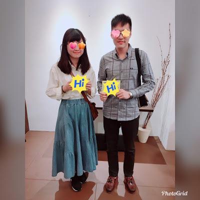 恭喜李先生、丘小姐配對成功
